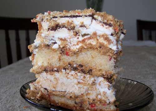 бисквитный торт с безе фото