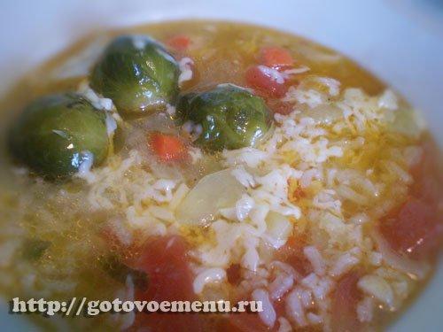 суп из брюссельской капусты с рисом